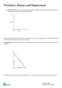 Distance Vs Displacement Worksheet. Worksheets. Tutsstar ...