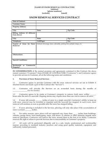 snow removal services contract - Vatozatozdevelopment