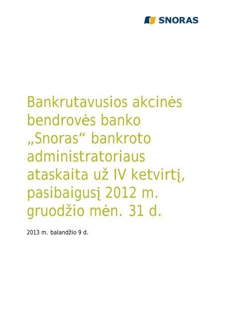 Job 4294817544)Microsoft Word - 130221 Quarterly report - Snoras