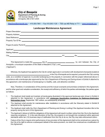 Maintenance Agreement Template Images - Agreement Letter Format