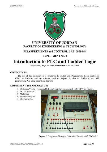 Introduction to PLC and Ladder Logic - FET