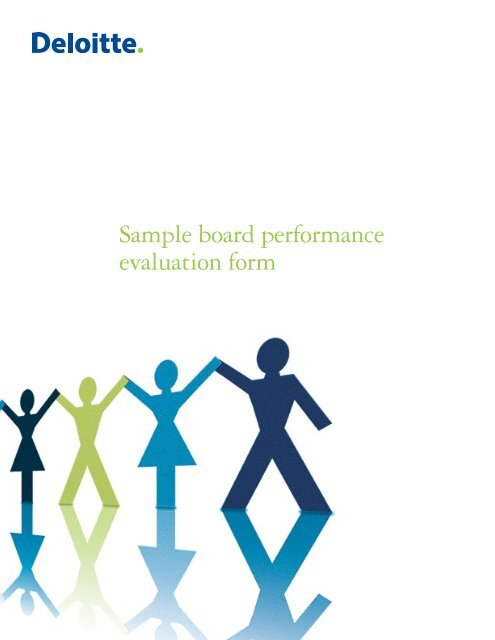 Sample board performance evaluation form - Center for Corporate
