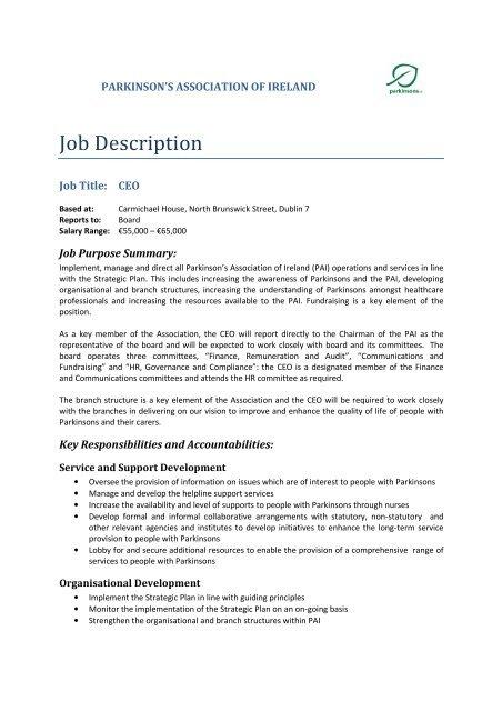 CEO Job Description 2014 - live