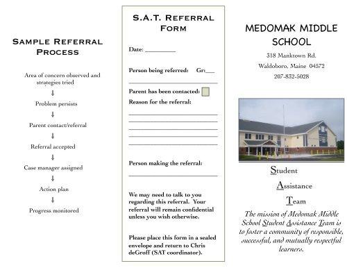 sat referral form medomak middle school sample referral process