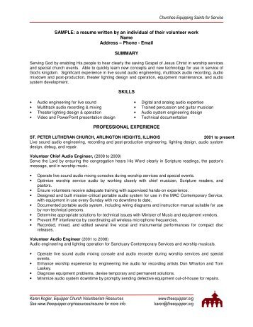 Sample Application Letter Without Resume