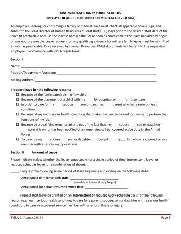 Staff Recruitment Fmla Request Form wwwpicturesso