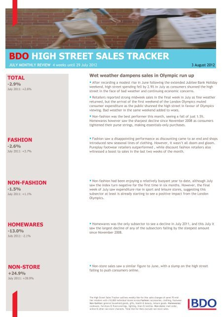 High Street Sales Tracker - UKCOM