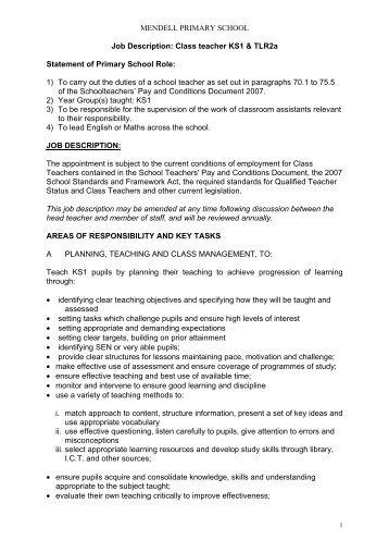 home school teacher job description