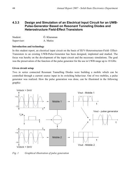 433 Design and Simulation of an Electrical Input Circuit for an