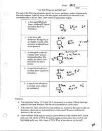 Worksheet Free Body Diagrams 1 | Page Objective The ...