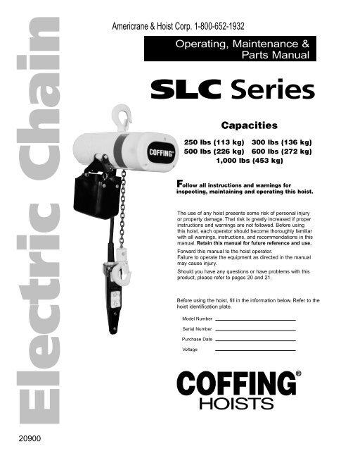 Coffing Hoist Parts Diagram Online Wiring Diagram