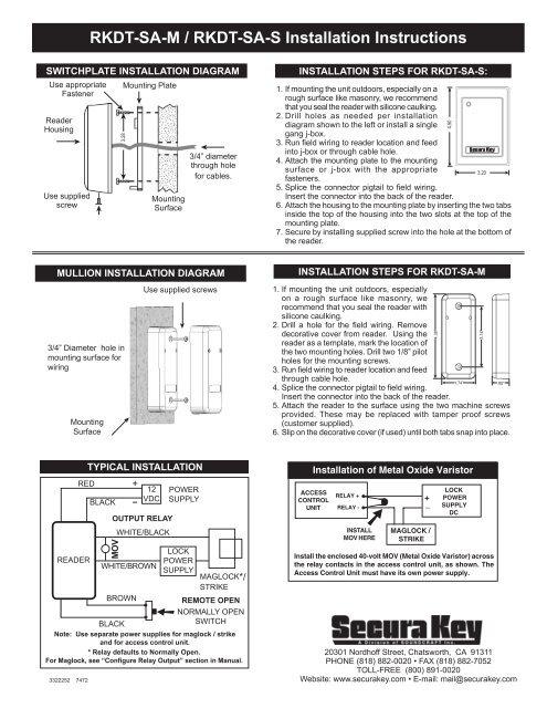 Secura Key Wiring Diagram - Wiring Diagrams Site