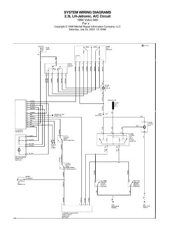 volvo 940 wiring diagram troubleshooting 1994