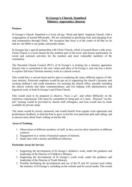 Intern job description and person spec_May2013pdf - St George\u0027s