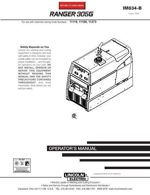Lincoln 305g Wiring Diagram Wiring Diagram