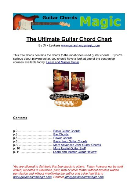 The Ultimate Guitar Chord Chart - Guitar Chords Magic