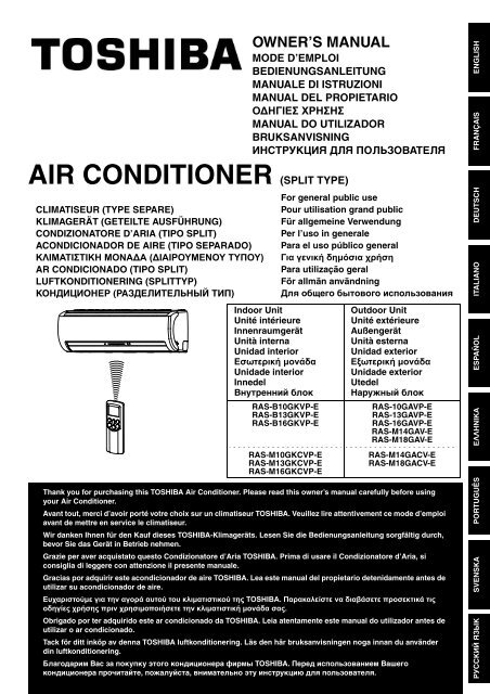 Klimagerät Toshiba Air Conditioner (split Type) - Toshiba Air Conditioning