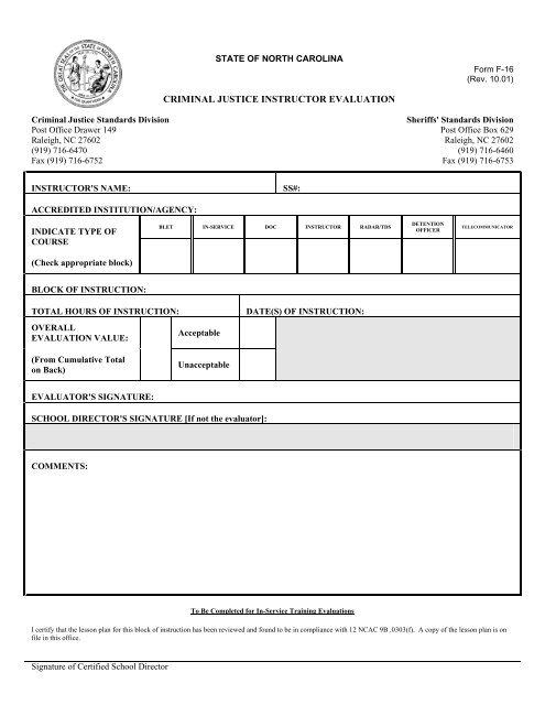 F-16 CJ Instructor Evaluation Form
