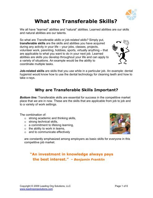 What are Transferable Skills?