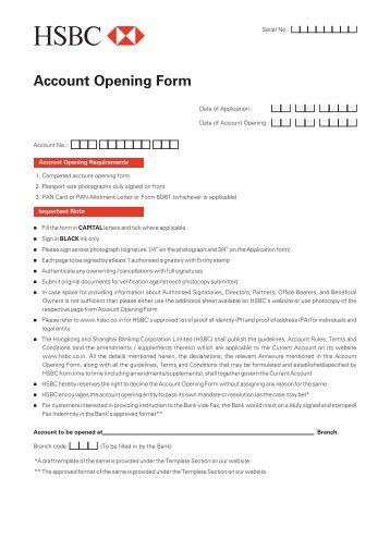 Business Internet Banking: Hsbc Business Internet Banking Application Form