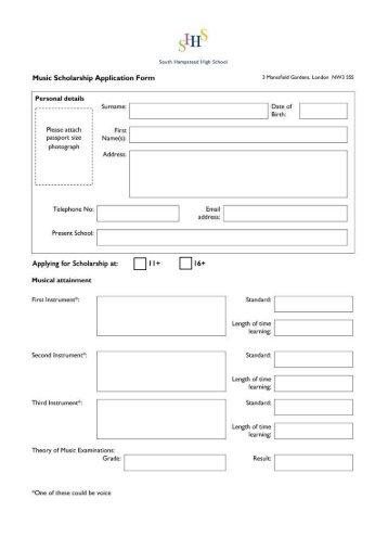 scholarship form - Solidgraphikworks - scholarship form