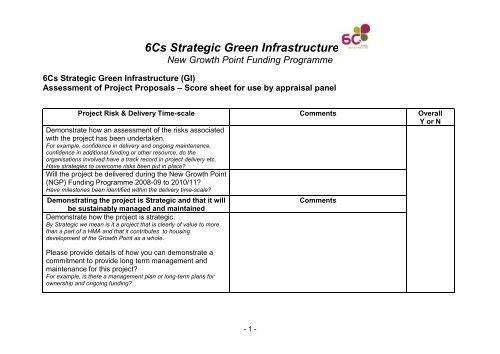 Item 3 Annex c 11Feb09 6CsGI Panel Appraisal form (pdf 123Kb)
