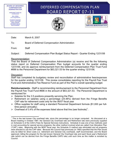 BOARD REPORT 07-11 - City of Los Angeles Personnel Department