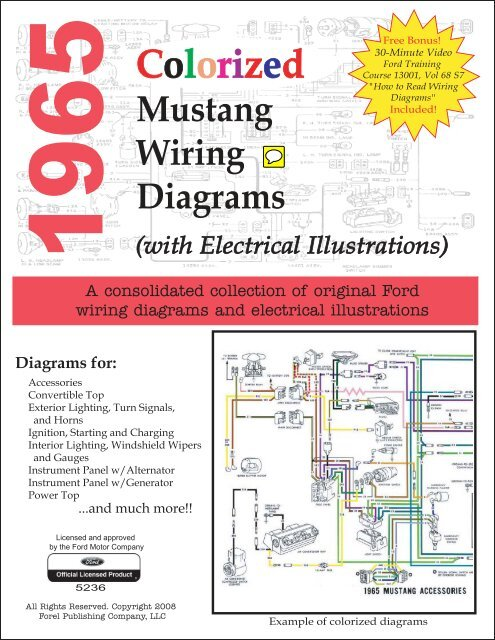 1965 Colorized Mustang Wiring Diagrams - ForelPublishing