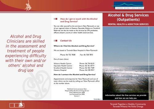 Alcohol and Drug Service brochure - Taranaki District Health Board