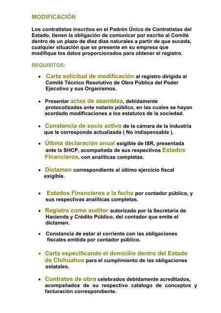 MODIFICACIÃ\u201cN â\u20ac¢ Carta solicitud de modificación al registro