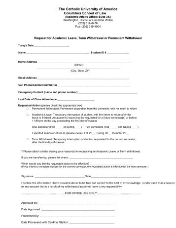Staff leave application form - school leave application