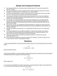 All Worksheets  Simple And Compound Worksheets ...