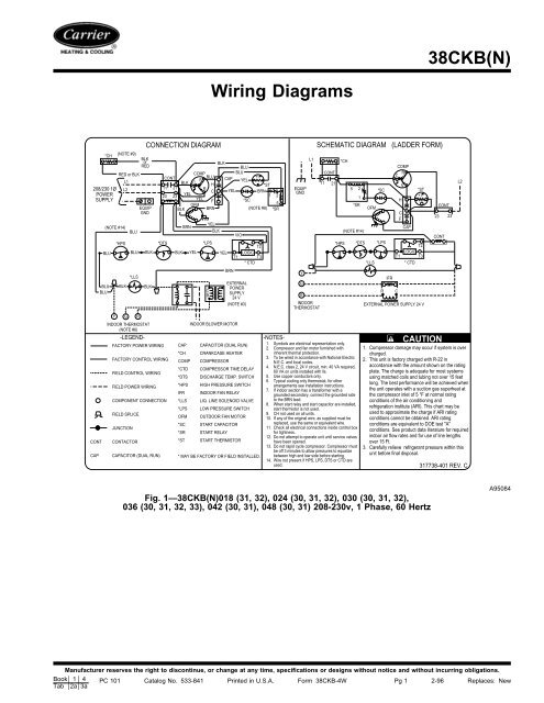 38CKB(N) Wiring Diagrams - Carrier