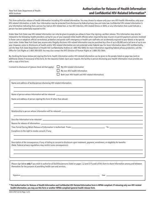 HIPAA Medical Release Form - Auburn School District