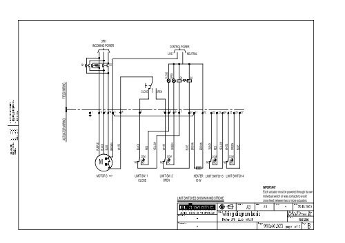 Wiring diagram - 3 Phase motor - EL 55 - Emerson Process