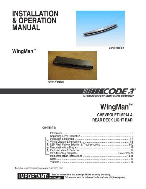 Code 3 Wingman Wiring Diagram Index listing of wiring diagrams
