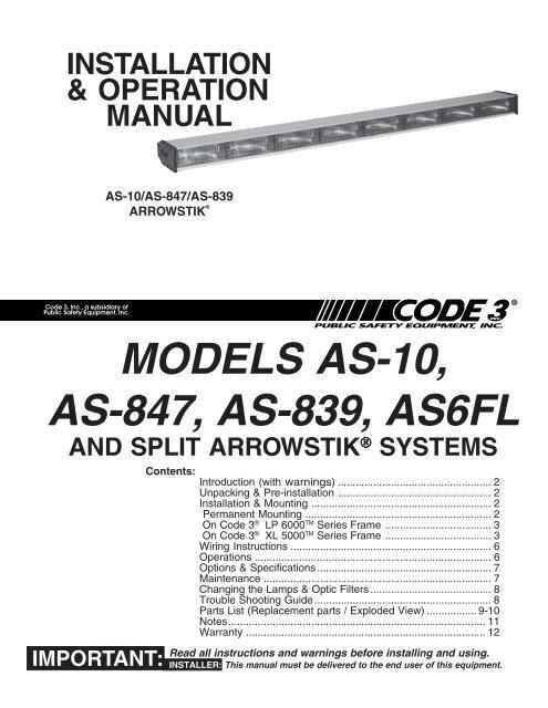 Code 3 Lp6000 Wiring Diagram Wiring Schematic Diagram