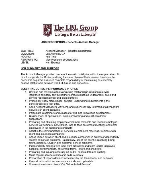 Strategic Account Manager Resume Template Sample Job
