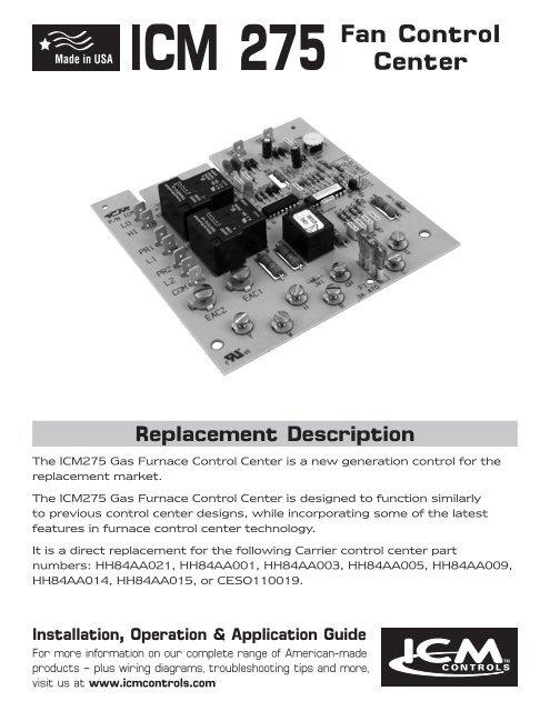 ICM 275 Fan Control Center - PEX - Radiant Heat - Radiant Heating