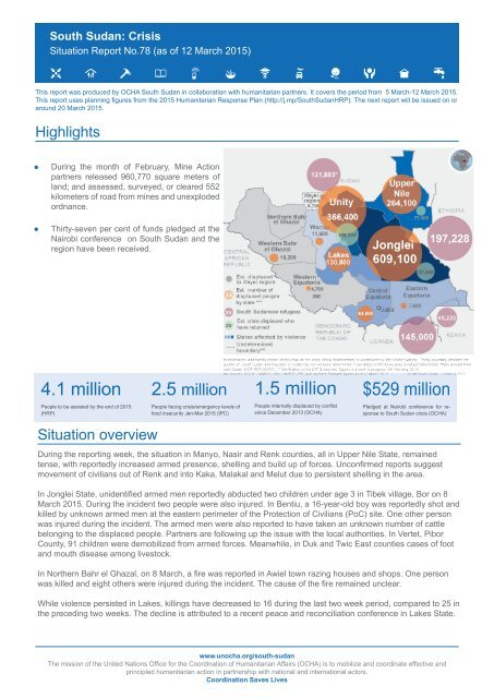 South Sudan Crisis Situation Report No 78