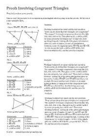 Isosceles Triangles Proving Triangles Congruent Worksheet ...
