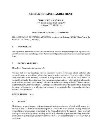 consultant retainer agreement - Muckgreenidesign - sample retainer agreements