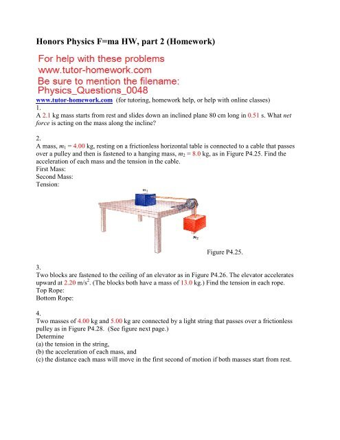 Webassign Physics Questions and Answers - Tutor-Homework