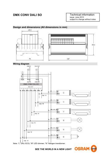 optotronic oti dali dim wiring diagram