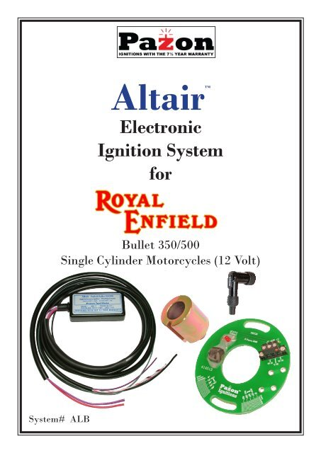 Altair Enfield Bullet - Pazon Ignitions Limited