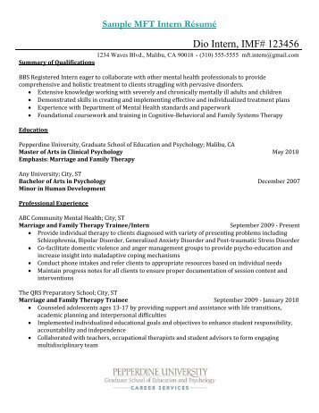 Cover Letter Cover Letter Subject Line Subject Line In Cover Mft Intern  Resume Internship Resume Sample