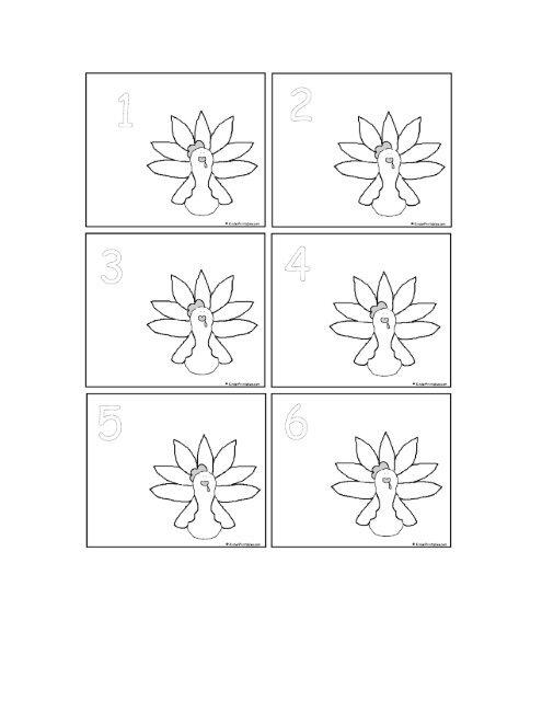 November Calendar Numbers (bw) - Kinder Printables