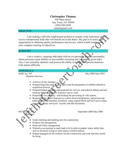 Download The Quantity Surveyor Resume Sample Three In PDFbest of