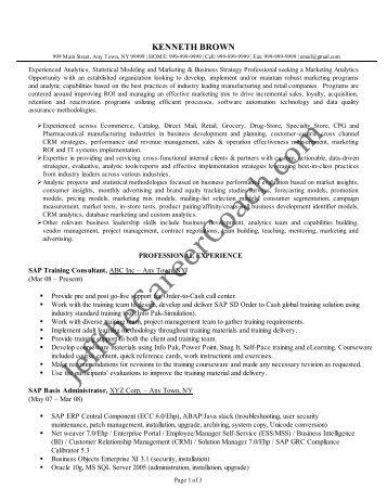sap pp consultant resume
