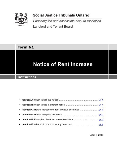 notice of rent increase template - Mavij-plus